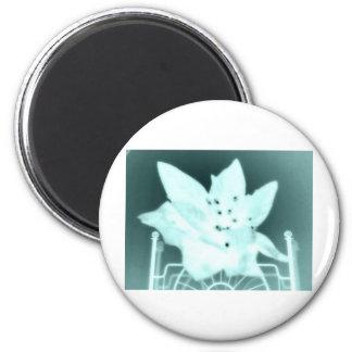 Wasteland Goth Flower 2 Inch Round Magnet