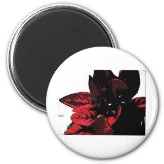 Wasteland red goth flower 2 inch round magnet