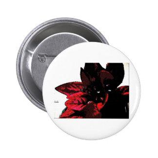 Wasteland red goth flower button