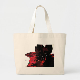 Wasteland red goth flower canvas bags