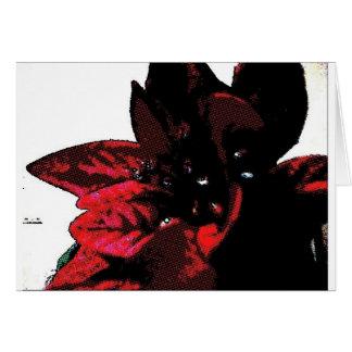 Wasteland red goth flower card