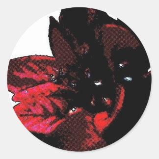 Wasteland red goth flower classic round sticker
