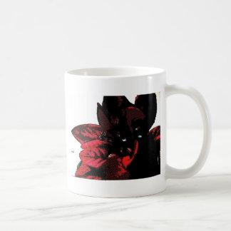 Wasteland red goth flower coffee mug