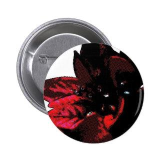 Wasteland red goth flower pinback buttons