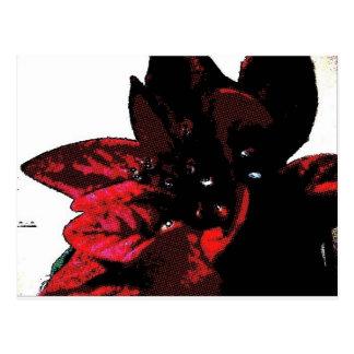 Wasteland red goth flower postcard