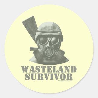Wasteland Survivor Classic Round Sticker