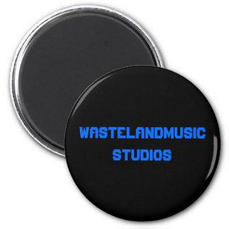 WASTELANDMUSIC STUDIOS 2 INCH ROUND MAGNET