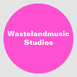 Wastelandmusic Studios Classic Round Sticker