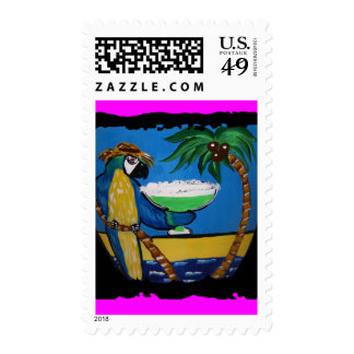 Wastin Away Parrots Postage Stamp