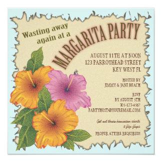 Wasting away a Day at a Margarita Party Invitation