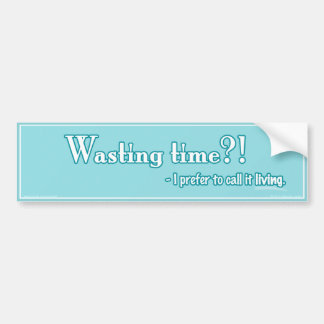 Wasting Time?! Car Bumper Sticker