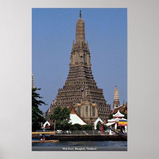 Wat Arun, Bangkok, Thailand Poster