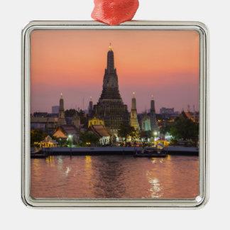 Wat Arun Temple Bangkok Thailand at sunset Metal Ornament