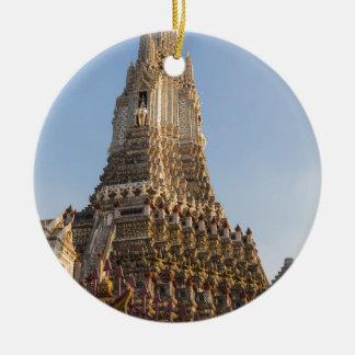 Wat Arun temple in Bangkok Thailand Ceramic Ornament