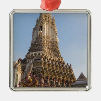 Wat Arun temple in Bangkok Thailand Metal Ornament