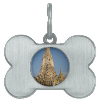 Wat Arun temple in Bangkok Thailand Pet ID Tag