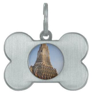 Wat Arun temple in Bangkok Thailand Pet Name Tag