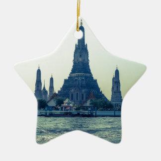 Wat Arun temple with River Thailand Bangkok Ceramic Ornament
