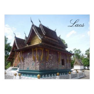 wat laos postcard