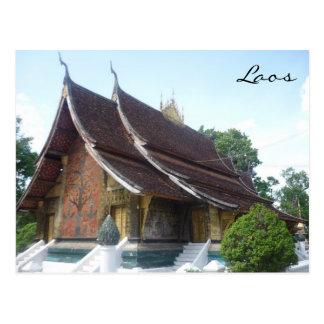 wat luang laos postcard