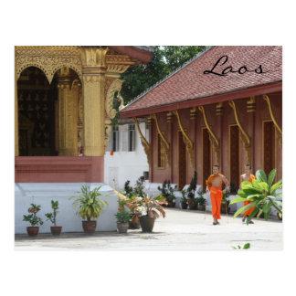 wat monks postcard