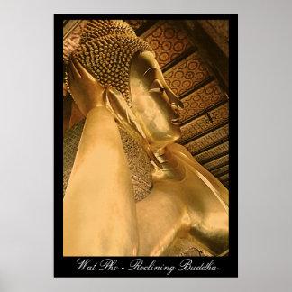 Wat Pho--Bangkok, Buda de descanso, poster
