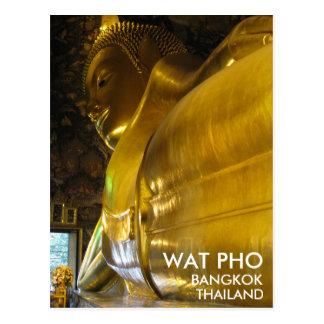 Wat Pho Buda de oro de descanso Bangkok Tailandia Tarjeta Postal