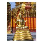 Wat Phrathat Doi Suthep Gold Buddha Postcard