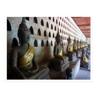 wat si saket buddhas postcard