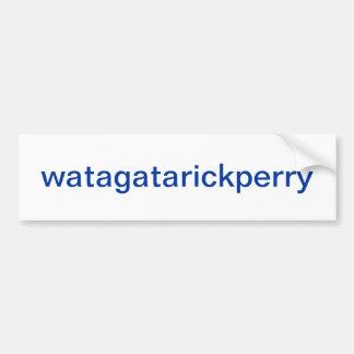 watagatarickperry etiqueta de parachoque