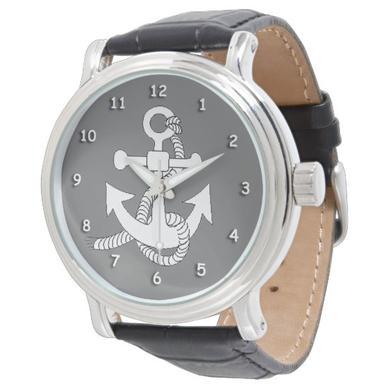 Watch - Anchor in White