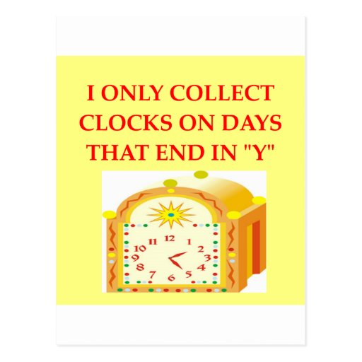 watch and clock collector postcard