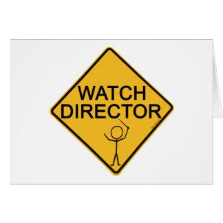 Watch Director Greeting Card