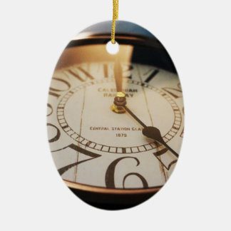 watch Double-Sided oval ceramic christmas ornament