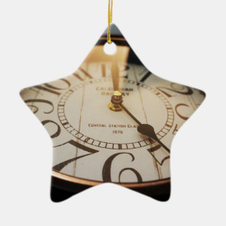 watch Double-Sided star ceramic christmas ornament