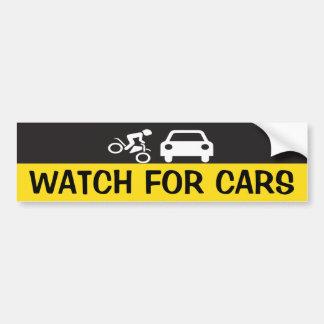 WATCH FOR CARS CAR BUMPER STICKER