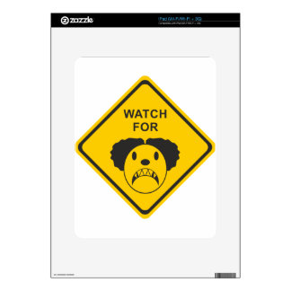 Watch For Clown Decal For iPad