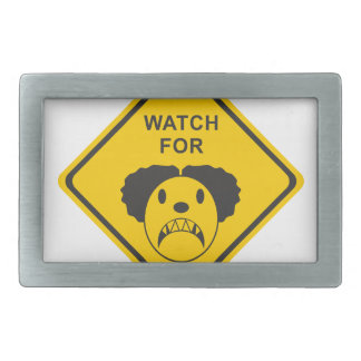 Watch For Clown Rectangular Belt Buckle