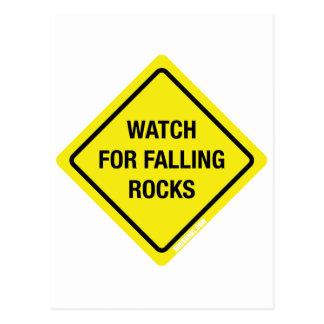 Watch For Falling Rocks Postcard