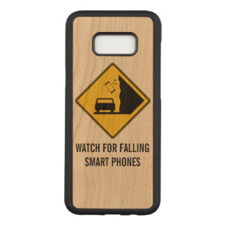 Watch for Falling Smart Phones Road Sign Carved Samsung Galaxy S8+ Case