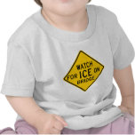 Watch for Ice on Bridge Highway Sign Shirts