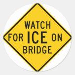 Watch for Ice on Bridge Highway Sign Sticker