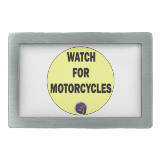 Watch for Motorcycles BLING Rectangular Belt Buckles
