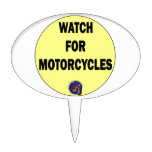 Watch for Motorcycles BLING Cake Topper