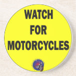 Watch for Motorcycles BLING Drink Coaster