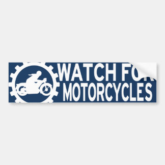 Watch For Motorcycle Stickers | Zazzle