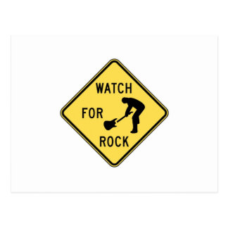 WATCH FOR ROCK- rock and roll/music/indie/metal Postcard