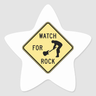 WATCH FOR ROCK- rock and roll/music/indie/metal Star Sticker