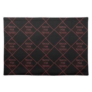 watch for rocks placemat in black cloth placemat