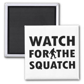 Watch for Squatch 2 Inch Square Magnet